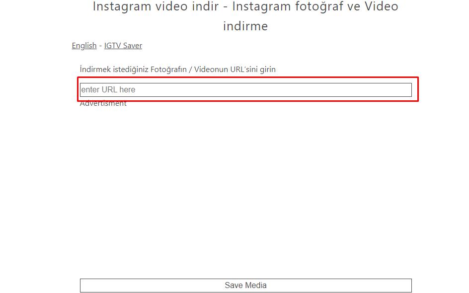 Instagram video indir